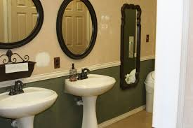before pic of the ladies restroom in the church luxury bath for