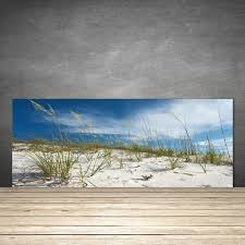 kitchen splashback 125x50 tempered glass beach landscape
