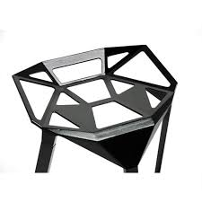 furniture study chairs unique artistic black glossy shaped