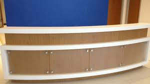 Rounded Reception Desk by Solid Surface Curved Reception Desk Vaughn Interior Concepts