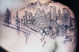 breathtaking city tattoos that will give you wanderlust