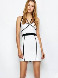 white bodycon dress piping bodycon bandage slip dress white bodycon dresses xl zaful