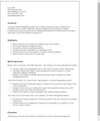 vendor management resume sle 28 images vendor manager resume