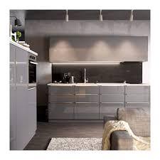 cuisine ikea gris brillant cuisine ikea ringhult idées novatrices de la conception et