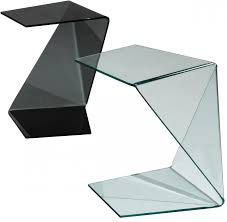 modern wood end table origami end table in black glass origami black side table