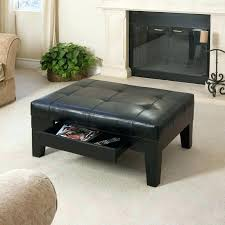 Leather Storage Ottoman Coffee Table Awesome Square Leather Ottoman Coffee Table Small Leather Storage
