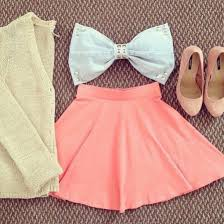 white and blue bows skirt bow pink cardigan heels blue denim sweater shoes