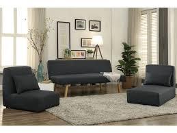 canape chauffeuse modulable canapé 3 places convertible et modulable tissu gris siniba