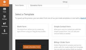 how to create a donation form with multiple amounts