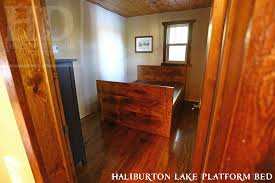 Custom Platform Bed Custom Reclaimed Wood Platform Bed In Haliburton Lake Ontario