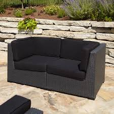 Modern Outdoor Patio Furniture Furniture Wicker Loveseat With Tray For Cozy Patio Furniture Ideas