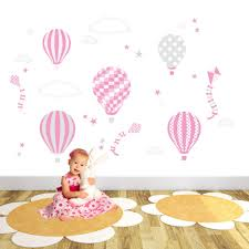 hot air balloons kites clouds and star nursery wall art stickers hot air balloons kites clouds and star nursery wall art stickers