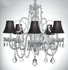 Chandelier With Black Shade And Crystal Drops Crystal Chandelier Chandeliers With Large Black Shade H15 X W15