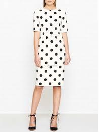 nz 84 women u0027s dresses hobbs astraea polka dot dress ivory black