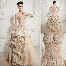 color wedding dresses sweetheart gown chagne colored wedding dresses 4735063047131363 jpg