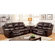 2 piece living room set furniture of america davenport motion livingroom set in rustic