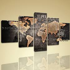 Huge World Map by Modern Contemporary Abstract World Map Hd Canvas Print Picture
