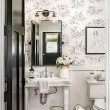 powder room rug chicago white pedestal sink powder room farmhouse with pendant light