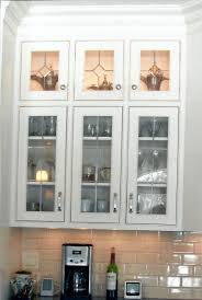 Frosted Glass Kitchen Cabinets by Kitchen Clear Glass Kitchen Cabinet Door Decor With White Small