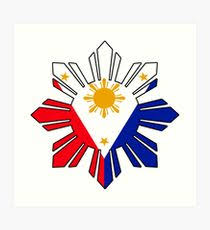 philippine flag design illustration wall redbubble