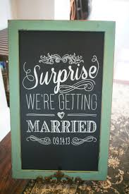 Wedding Program Chalkboard The 25 Best Surprise Wedding Ideas On Pinterest Surprise