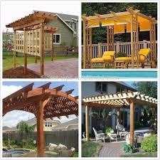 natural wood pergola wpc pergola curtains garden furniture pergola