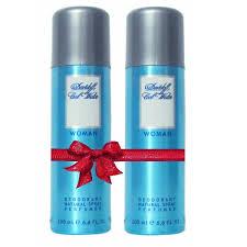 buy set of 2 davidoff cool water deodorant for women 200 ml online