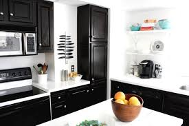 Dark Kitchen Cabinets With Light Granite Staining Kitchen Cabinets Darker Custom Kitchen Dark Stain Island