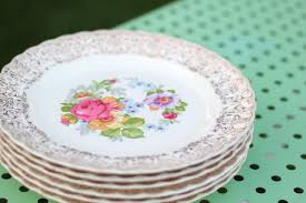 vintage china gold flowered china plates house pretties china