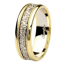the gents wedding band knot two tone gold gents wedding ring