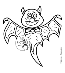 Bat For Halloween Halloween Bat Coloring Pages For Kids Bat Printable Free