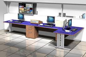 Computer Technician Desk Control Room Furniture Technical Furniture Broadcast Furniture