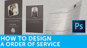 funeral booklets how to design a funeral order of service booklet in adobe