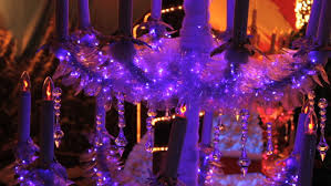 Christmas Decorations Video Lights by Christmas Decorations On An Artificial Pine Tree With Sparkling