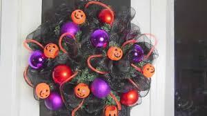 Halloween Wreath Decorations by Deco Mesh Halloween Wreath Youtube