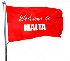 Matla Flag Welcome To Malta 3d Rendering A Red Waving Flag U2014 Stock Photo