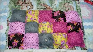 how to make puff quilts also called biscuit quilts