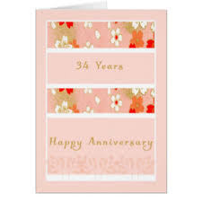 34th wedding anniversary cards greeting u0026 photo cards zazzle