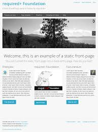 how to create a static front page in wordpress required themes