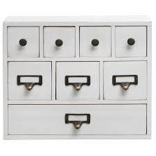 amazon com small white shabby chic wood library card catalog