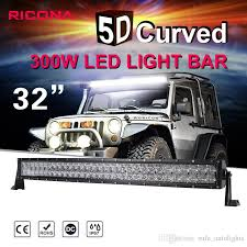 best jeep light bar 32 inch 300w curve led light bar for off road trucks tractor 4wd suv