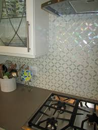 Grey Tile Laminate Flooring Tiles Backsplash Black L Shaped Cabinetry With Granite Countertop