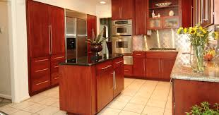 decor brown kitchen cabinets with under cabinet microwave and