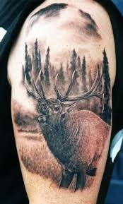 25 beautiful elk tattoo ideas on pinterest deer head tattoo
