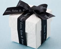 personalized ribbon for favors italian favor boxes 2 favor boxes white favor box
