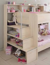 2 Bunk Beds Avenue Bibop 2 Bunk Bed With Storage Shelves The Home And
