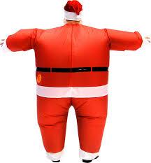 santa costume santa claus chub suit costume with beard