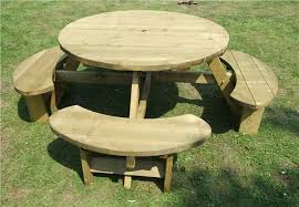 heavy duty round picnic table pub picnic benches round tables excalibur round picnic tables