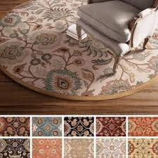 floral round oval u0026 square area rugs shop the best deals for