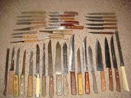 vintage kitchen knives 40 vintage antique kitchen knife collection wood handles estate